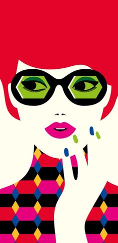 Colorful graphic illustrations by French Illustrator Malika Favre
