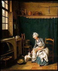 Servant Girl Plucking a Chicken Follower of Nicolas Bernard Lépicié, French, 1735–1784
