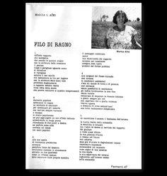 """gaudia 2.0: Original Text ░ """"Filo di ragno"""" di Marisa G. Aino"""