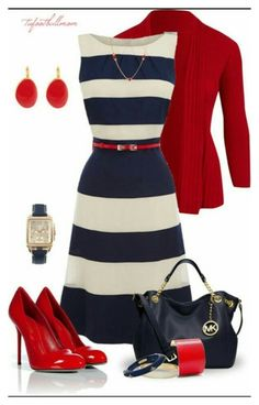 """Red White and Blue"" by dgyrl-1 ❤ liked on Polyvore"