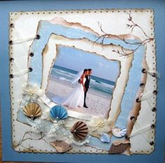 Falling in Love Layout. In love layout. Beach Scrapbook Layouts, Vacation Scrapbook, Scrapbook Sketches, Scrapbooking Layouts, Digital Scrapbooking, Wedding Scrapbook Pages, Scrapbook Albums, Scrapbook Cards, Beach Pink