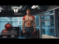 """""""Exercise Anatomy: Shoulders Workout"""" by Pietro Boselli - 9 December 2016 Shoulder Workouts For Men, Cardio, Shoulder Training, Pietro Boselli, Rear Delt, Overhead Press, Different Exercises, Dumbbell Workout, Bodybuilder"""