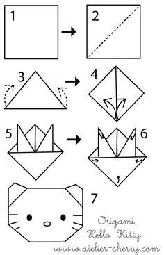 ATELIER CHERRY: Origami da Hello Kitty