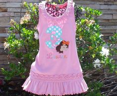 Personalized Mermaid Birthday Dress   Custom by sewcutecreations, $22.00