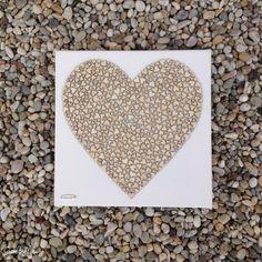 Gombíkový obraz - Srdiečkové srdce