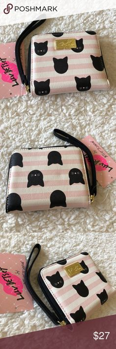"🌺NWT! BETSEY JOHNSON CAT WALLET BRAND NEW! AUTHENTIC BETSEY JOHNSON CAT WALLET-Approximate measurements are 5"" W X 4"" H.... Betsey Johnson Bags Wallets"