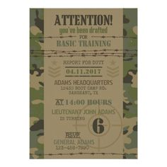 Camo Birthday Invitation Camouflage Birthday Invite Army Tank