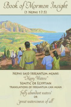 """Nephi mentions Irreantum as meaning """"many waters"""". Recent research has shown that Egyptian and Semitic languages might have a very similar translation. Learn more at http://www.knowhy.bookofmormoncentral.org/content/why-would-nephi-call-the-ocean-irreantum  #knowhy #lds #mormon #bookofmormon #irreantum #sea #ocean"""