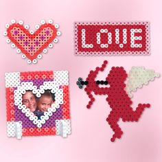 <p>These are the perfect designs to make for your Valentine! Easy and quick to create with Perler Beads, create one for all your friends, your teacher, your Mom, and more.</p>