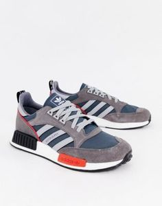 699bfbb9e38f2 Image 1 of adidas Originals Never Made Boston super limited edition sneakers  in gray suede Limited