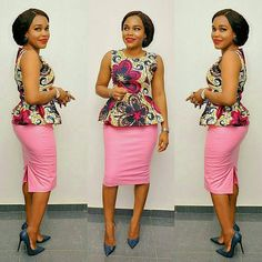 Ankara tops with peplum shape give a figure that blends through all the curves of your body and a confidence boost that gives you that satisfactory feeling. Pairing up ankara…
