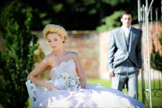 Princess updo, fresh faced makeup by Harry Jon  Flowers with Red Floral Archtecture and Model Jen Brook at Comberemere Abbey  Photography by Sue Westwood-Ruttledge