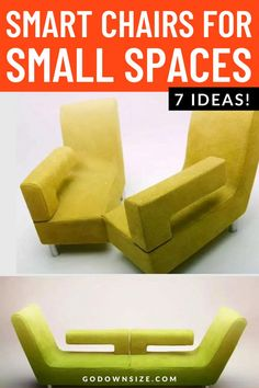 A regular sofa or chair can be tricky in a small living space. That's why we've put together a great list of incredibly smart transforming and space-saving chairs that are multi-functional and perfect for small spaces. Chairs For Small Spaces, Small Space Living, Tiny Living, Living Spaces, Transforming Furniture, Small Bathroom Storage, Small Apartments, Box Design, Chair Design