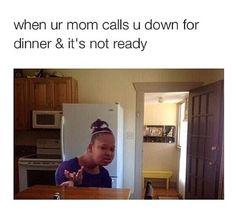 I'm thankful she makes dinner but sometimes it happens