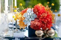 orchids and succulents arragments | Orange and succulents