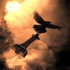 Odin's raven Muninn