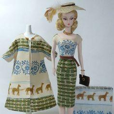 Handmade Vintage Barbie/Silkstone Fashion by Roxy-OOAK Safari Print Outfit-11pcs #FITSVINTAGEREPRODUCTIONSANDSILKSTONEBARBIE