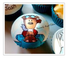 Hand painted cupcakes - by Heavenly Angel Cakes @ CakesDecor.com - cake decorating website
