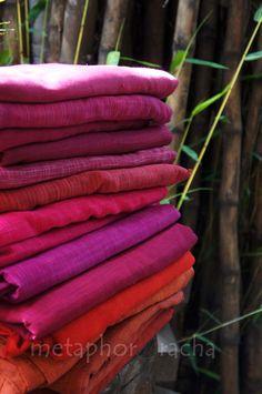 khadi textiles '13 , colors of hibiscus.