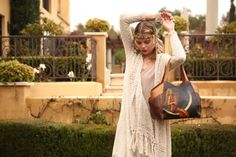 """""""Music of the Spheres"""" Large Shoulder Tote w/Pockets with mermaid art by David Delamare"""