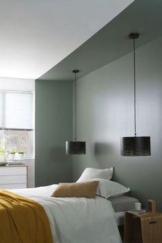 55 Modern Scandinavian Interior Designs and Ideas, Home Decor, modern grey Scandinavian bedroom.