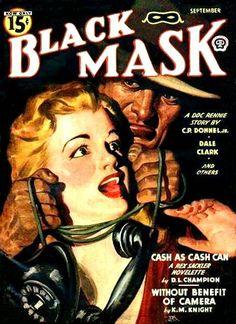 Black Mask Magazine - Cash as Cash Can, Pulp Fiction Covers