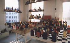 David Higginbotham 1000 Forms. Project installed and arranged in studio 1996-97.