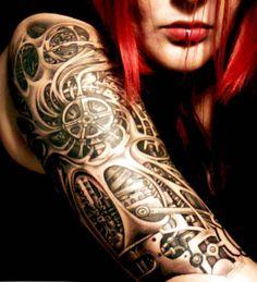 biomechanical tattoos - Google Search