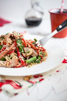 Fried rice with sesame beef and vegetables - Love Your Gut Fodmap Diet, Low Fodmap, Sesame Beef, Ibs Diet, Beef Stir Fry, Fodmap Recipes, Some Recipe, Fried Rice, Healthy Dinner Recipes