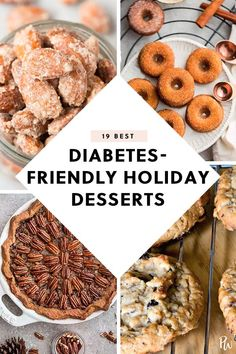 19 Holiday Dessert Recipes That Are Diabetes-Friendly - Howard Fields - 19 Holiday Dessert Recipes That Are Diabetes-Friendly 19 Holiday Dessert Recipes That Are Diabetes-Friendly - Healthy Desserts, Easy Desserts, Dessert Recipes, Desserts For A Crowd, Dessert Food, Healthy Breakfasts, Easy Snacks, Diabetic Meal Plan, Dessert