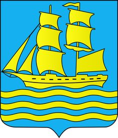 The coat of arms is based on a local official seal preserved from 1839, but probably from 1816 when Grimstad received city privileges. Description from en.wikipedia.org. I searched for this on bing.com/images Coat Of Arms, Bart Simpson, Norway, Bing Images, Symbols, History, City, Fictional Characters, Seal