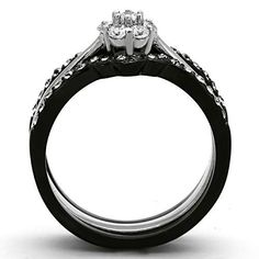 "Save additional 30% by using coupon code ""PINTEREST"" when purchasing $30.00 or more of jewelry from www.hopechestjewelry.com.  Hope Chest Jewelry - WOMEN'S BLACK STAINLESS STEEL FLOWER STYLE ROUND CUT CZ WEDDING RING SET, $37.49 (http://www.hopechestjewelry.com/womens-black-stainless-steel-flower-style-round-cut-cz-wedding-ring-set/)"