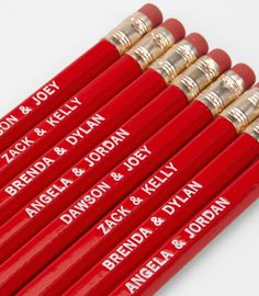 Teenage Power Couple Pencil Set- C'mon you know you rooted for at least one of these couples