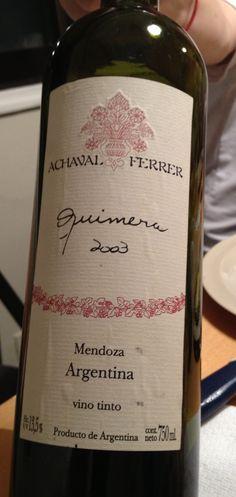 Oct 2012. Miércoles familia.  Quimera. 2003.  Achaval Ferrer.