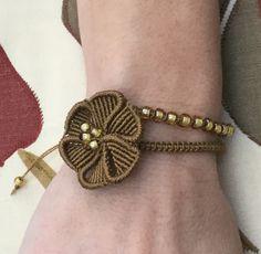 Pick Your Colour - Macrame Flower Bracelet by PrettyKnotsnBeads on Etsy