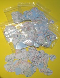 10 x packs of 150 pieces of heart shaped map by LoveandTravel, £5.00