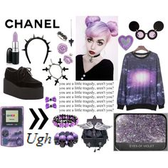 """Black and Purple"" by twisted-candy on Polyvore"