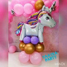 Unicorn Balloon, Unicorn Party, Candy Bar Party, Balloon Arrangements, Diy Birthday Decorations, Girl Wallpaper, Backdrops, Wedding Flowers, Balloons