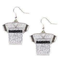 Oakland Raiders Women's Glitter Jersey Earrings