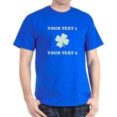 CafePress Personalized Custom St Patricks T-Shirt, Size: XL, Blue
