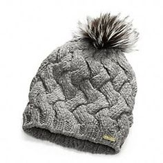 Will it fit over my hair??? Coach Braided Cable Hat with Silver Fox Pom