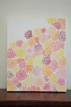 @Lindsay Dillon Dillon  Dahlias acrylic painting Love this one, I am going for it