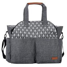 Lekebaby Baby Diaper Bag Tote Satchel Messenger Bag for M...
