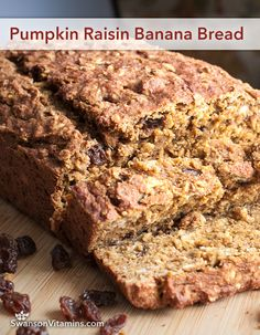 Pumpkin Raisin Banana Bread