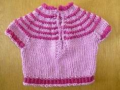 Ravelry: Baby Short Sleeved Pullover pattern by Suzetta Williams