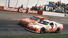 History of the No. 7 in NASCAR through the years  -  April 14, 2017:    Here we are, seven races into the 2017 Monster Energy NASCAR Cup Series season, so we decided to take a look at the No. 7 on the track throughout the sport's history.According to DriverAverages.com, the No. 7 has made 1,488 starts in NASCAR's top division, with 23 victories, 141 top fives, 288 top 10s and 41 poles. All told, the No. 7 has been on track...   MORE...