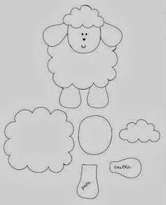 molde de ovelhinha - Pesquisa Google