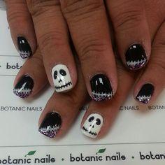 Love<3jack skellington French Acrylic Nails, 3d Nail Art, Nail Trends, Halloween Nails, Nail Artist, How To Do Nails, Pedicure, Nail Designs, Polish