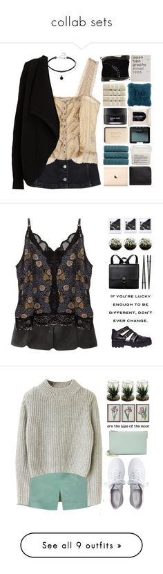 """""""collab sets"""" by centurythe ❤ liked on Polyvore featuring Topshop, Jill Stuart, Dr. Martens, Chanel, Koh Gen Do, H&M, NARS Cosmetics, Christy, Davines and Comme des Garçons"""