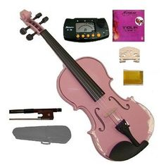 GRACE 132 Size Acoustic Pink Violin with Case and BowMerano MT60 Metro TunerExtra E String2 BridgesRosin * Want to know more, click on the image.Note:It is affiliate link to Amazon.